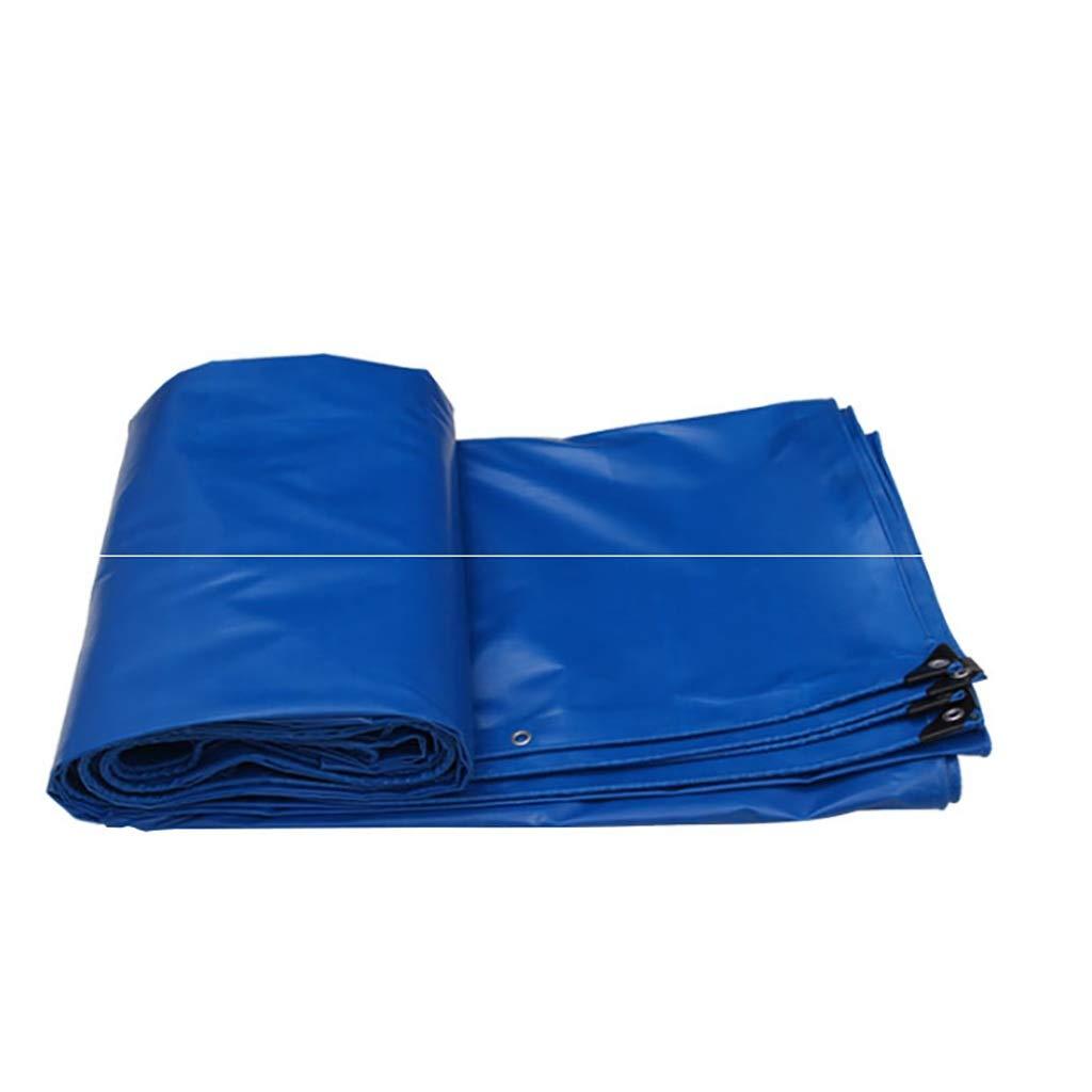 Thicken Tarps Truckターポリン防水ヘビーデューティーユニバーサル防雨布天蓋布レインクロスリールリノリウムサンスクリーンレインカバーターポリンキャンバス (色 : 青, サイズ さいず : 10*12m) 10*12m 青 B07LDZ5NYC