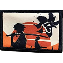 """Samurai Champloo Morale Patch. Perfect for your Tactical Military Army Gear, Backpack, Operator Baseball Cap, Plate Carrier or Vest. 2x3"""" Hook and Loop Patch. Made in the USA"""