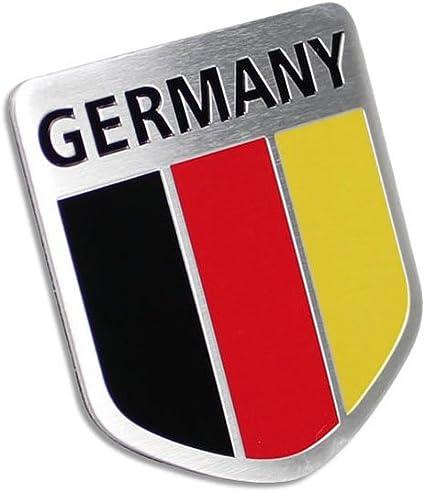 1x Metal Germany German Flag Car Front Grill Grille Emblem Badge Sticker Decal