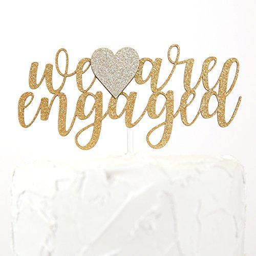 NANASUKO Engagement Party Cake Topper - we are