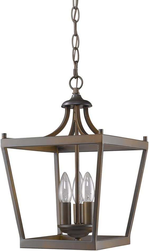 Clear Glass 2600 Rated Lumens Maxim Lighting CA Incandescent E12 60 Bulb Damp Safety Rating 17W Max. Acrylic Shade Material Maxim 1139CLBZ Knoxville 3-Light Outdoor Pendant Bronze Finish 2700K Color Temp