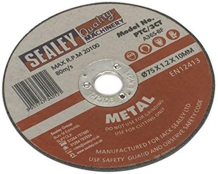 SEALEY PTC/3Karat 75x 1mm 10mm Bohrung Trennscheibe
