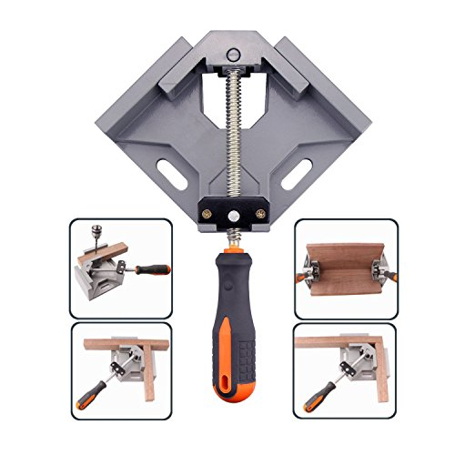 T&B 90° Right Angle Corner Clamp Aluminum Alloy Adjustable Corner Vise for Woodworking Engineering, Welding, Carpenter, Frame Gussets Single Handle Tool by T&B