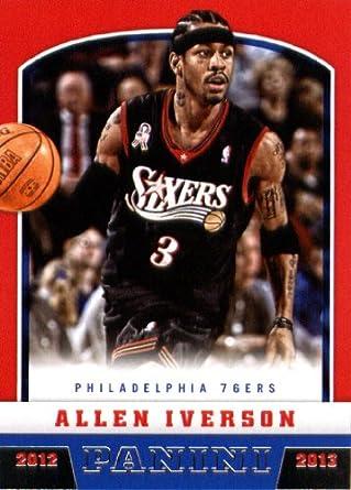 92384bf4647 Amazon.com: 2012 Panini Basketball Card (2012-13) #177 Allen Iverson ...