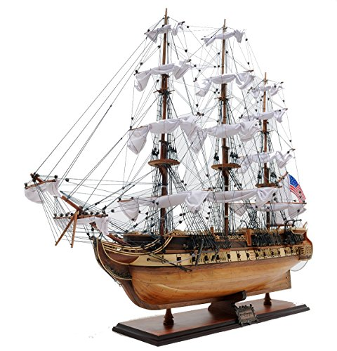 Old Modern Handicrafts USS Constitution, - Build Boats Model To Kits Wooden