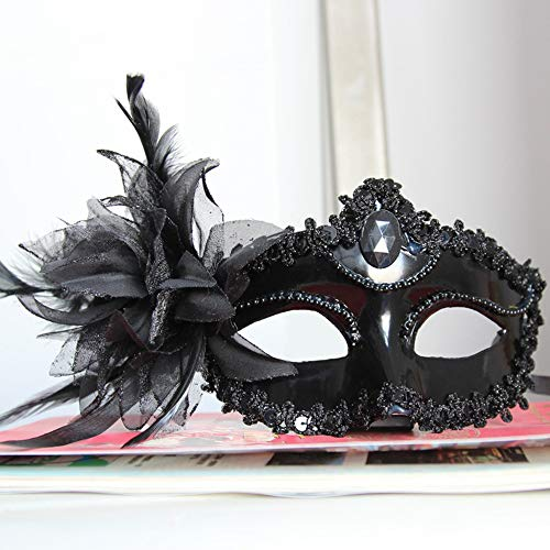 Halloween Fancy Dress Party Feather Lily Mask 6 -