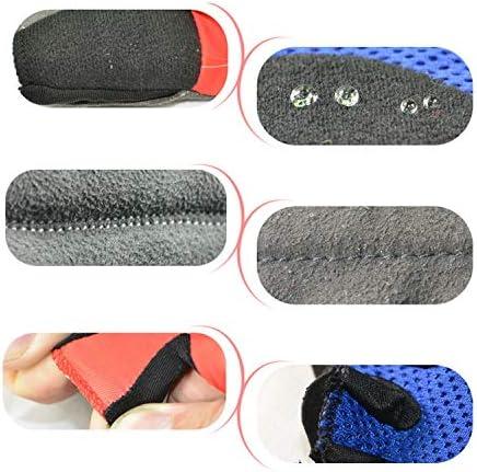 手袋 日常 実用 スポーツトレーニング用手袋、衝撃吸収フォーム付き非リストラップ重量挙げ手袋、脱ぐのが簡単(ペア) (Color : Blue)