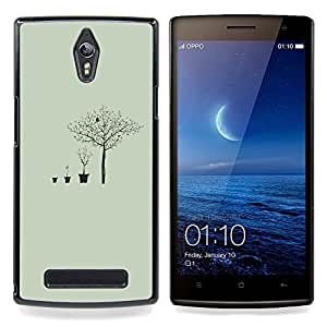 Deep Meaning Tree Metaphor Caja protectora de pl??stico duro Dise?¡Àado King Case For Oppo Find 7 X9007