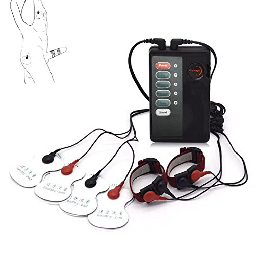Entry Level Electric Shock Physiotherapy Device & Electric Shock Stimulation Climax Body Pads & Electric Shock Penis Ring