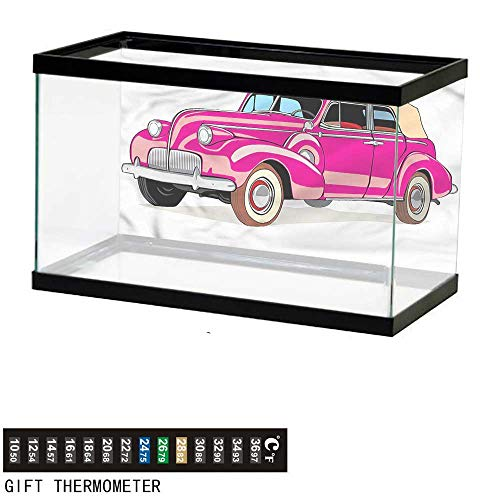 bybyhome Fish Tank Backdrop Cars,Convertible from Fifties,Aquarium Background,24