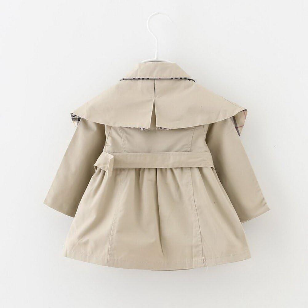 Odziezet Baby M/ädchen M/äntel Trenchcoat Fr/ühling Herbst M/ädchen Jacken Baby Kinderjacke Windbreaker 0.5-3 Jahre