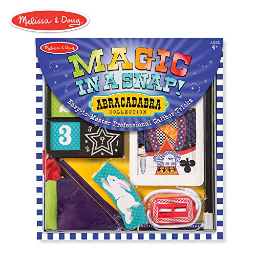 Melissa & Doug Magic in a Snap! Abracadabra Collection Magic Tricks Set (10 pcs) ()