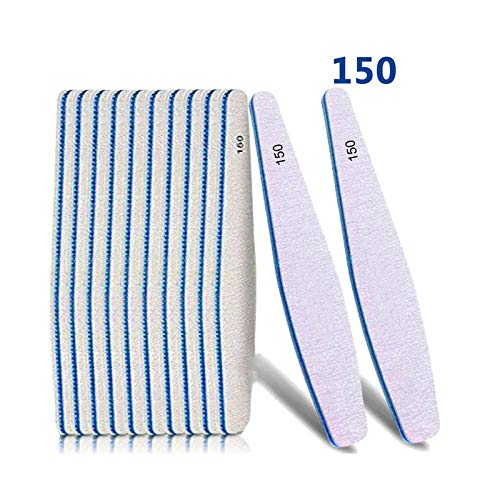Buffer Nail - 25pcs Drop Style Sanding Nail Buffer File 150/150 Polishing Manicure Files Lime A Ongle - Canoda