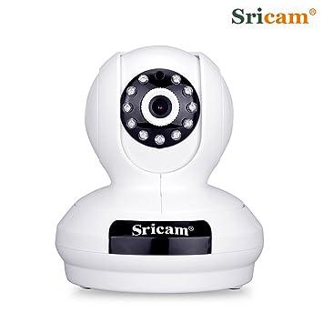 Sricam Cámara IP de Vigilancia inalámbrica (1080P, 2.0MP, Wifi 820.11b/