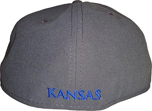 New Era Kansas Jayhawks NCAA Gray Pop 59FIFTY Cap