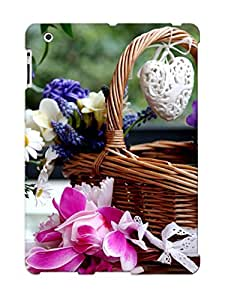 New Design Shatterproof SHjgFzs2003bwSqu Case For Ipad 2/3/4 (flower Basket) For Lovers