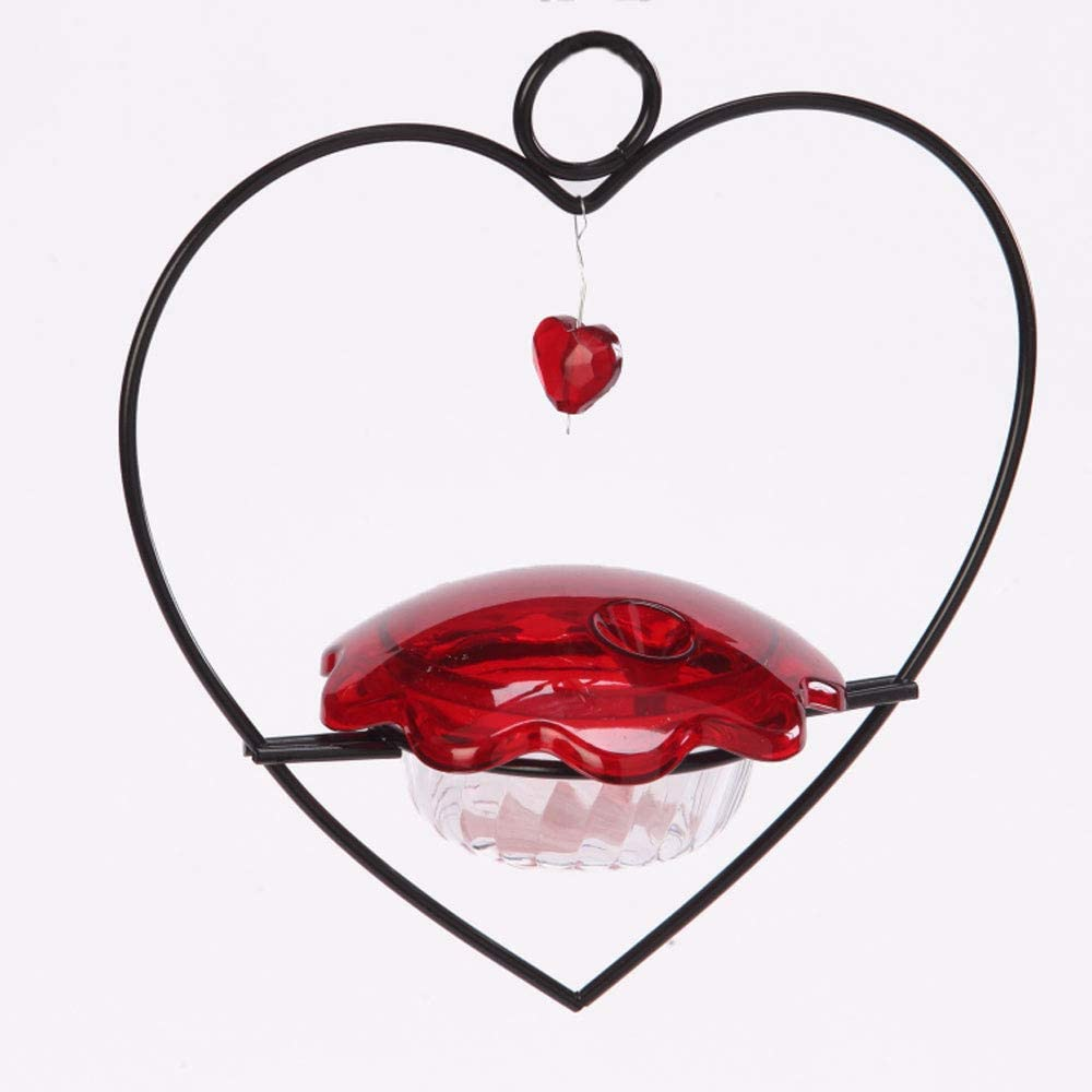 Birds Choice HHF Heart Hummingbird Feeder, 3oz, Red