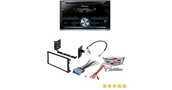 pioneer fh-s500bt double din bluetooth in-dash cd/am/fm car stereo receiver  w/pandora car radio stereo cd player dash kit buick cadillac chevrolet gmc