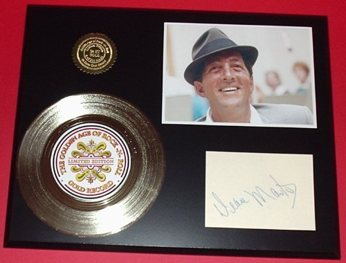 Dean Martin 24Kt Gold Record Signature Series LTD Edition Display Gold Record Outlet