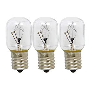 ANTOBLE 3 Pack 8206232A Microwave Light Bulb for Whirlpool Microwave 1890433 8206232 AP4512653