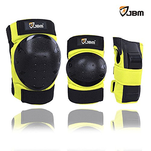 JBM Inline & Roller Skate Protective Gear for Multi Sport Skateboarding, Scootering, Bmx, Biking, Cycling (Yellow