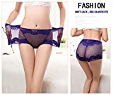 - 51H0mTOuEcL - MWMart Women's Sexy Lace Panties High-Rise Tummy Control Lingerie Underwear Briefs Floral Lace Boy Shorts