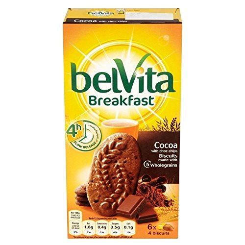 Belvita Breakfast Biscuits - Cocoa with Choc Chips (6x50g) (Choc Chip Crisp)