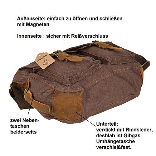 GIBGAS Bolso bandolera Negro negro marrón