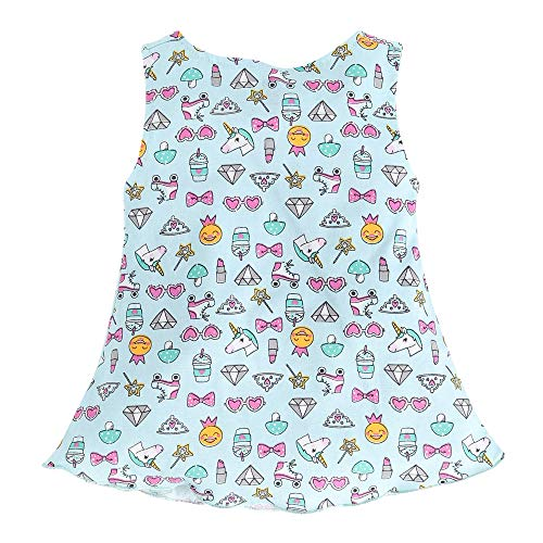 Hopscotch Simply Girls Cotton Print Sleeveless Dress – Pack of 3 in Multi Color