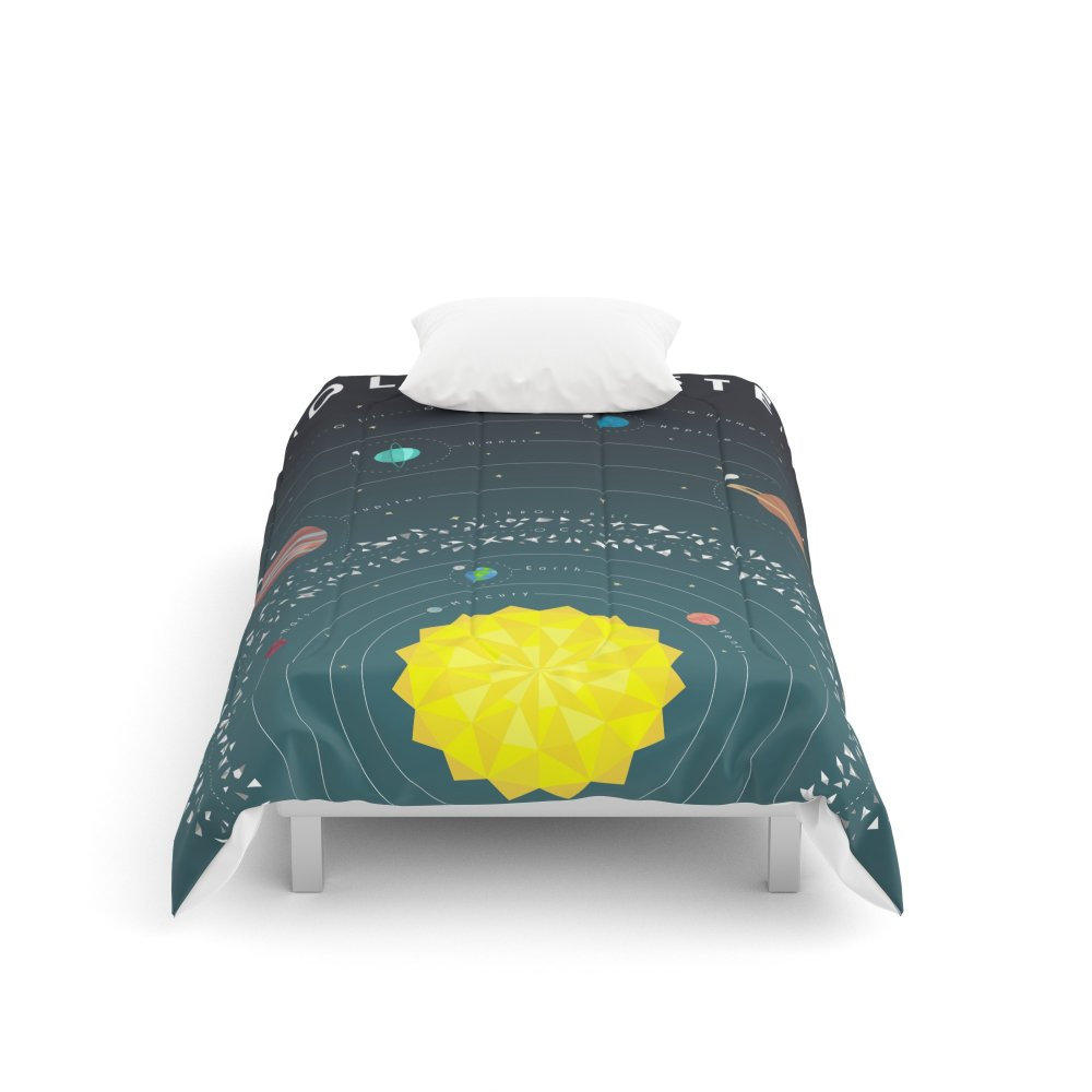 Society6 Solar System Comforters Twin: 68'' x 88''