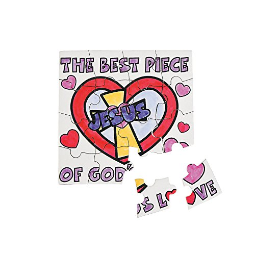 The Best Piece of Gods Love Coloring Puzzle Craft for Kids
