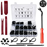 LEICESTERCN Panel Retainer Clips Fasteners Kit Door Trim Panel with Removal Tools Durable Bumper Clips Push Pin Plastic Rivets Universal for Car Automotive