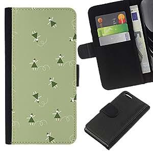KingStore / Leather Etui en cuir / Apple Iphone 5C / Verde de la Navidad vacaciones de invierno
