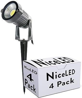 Greenice | Pack 4 Foco LED COB con Pincho Jardínes 5W 450Lm 30.000 ...