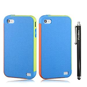 FiveBox Sneaker Shoe Tread Case Skin Cover For Apple Iphone 4/4S - Blue