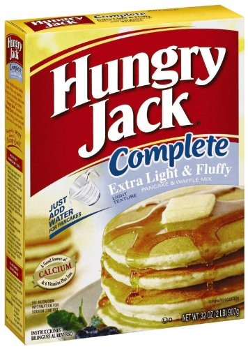 - Hungry Jack Pancake and Waffle Complete Extra Light, 32-Ounce Boxes (Pack of 6)