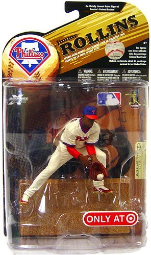 McFarlane Toys MLB Sports Picks Series 24 (2009 Wave 1) Exclusive Action Figure Jimmy Rollins (Philadelphia Phillies) Throwback Uniform and Blue Hat ()