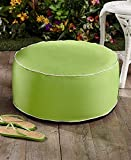 INFLATABLE LIME GREEN OTTOMAN POUF INDOOR OUTDOOR GARDEN PATIO