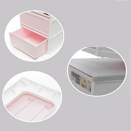 GaoXu Aufbewahrungskiste Caja para Guardar Caja, Noche Caja cajón Tipo plástico 3 Capas Snack Ropa