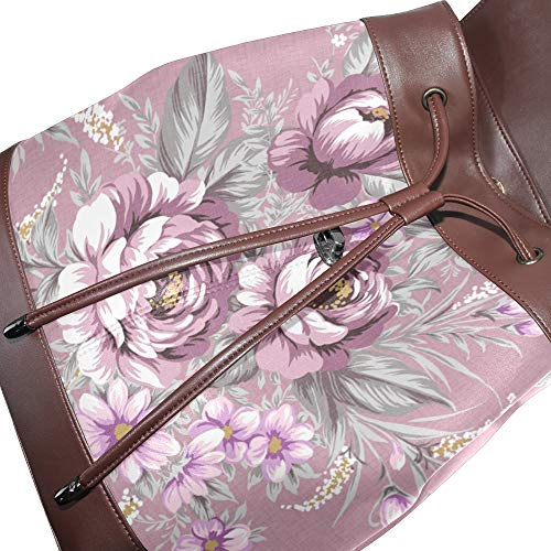 Backpack Purse Casual School Pattern Shoulder Travel Women Daypack COOSUN Floral PU Leather Bag wFnqBX