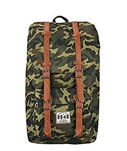 Unisexs Travel Hiking Backpack Waterproof Material (Army green) - 1