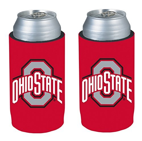 NCAA 2013 College Ultra Slim Beer Can Holder Koozie 2-Pack (Ohio State Buckeyes) - Beverage Buckeyes Ohio State