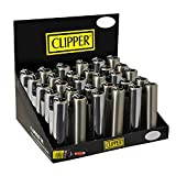 4 New Refillable Mini Original Clipper Lighters with Removable Metallic Cover