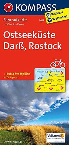 Ostseeküste, Darß, Rostock: Fahrradkarte. GPS-genau. 1:70000 (KOMPASS-Fahrradkarten Deutschland, Band 3019)