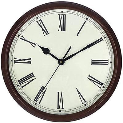 BFQY Wall Clock Living Room European Modern Minimalist Roman Numerals Mute 16 Inch Wall Clock