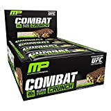 #9: MusclePharm Combat Crunch Protein Bar, Multi-Layered Baked Bar, 20g Protein, Low Sugar, Low Carb, Gluten Free, Chocolate Chip Cookie Dough, 12 Bars