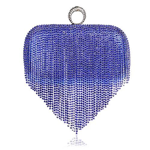 borsetta Blue banchetto e da nappa LiShihuan sera Europa MS Stati sera da negli Uniti Red frizione vestito 5FAnq