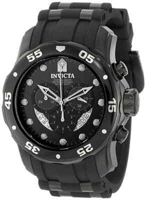 Invicta Men's 6986 Pro Diver Collection Chronograph Black Dial Black Polyurethane Watch