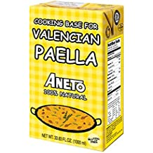 Aneto Valencian Paella Cooking Base Broth, 33.83 Fluid Ounce by Aneto