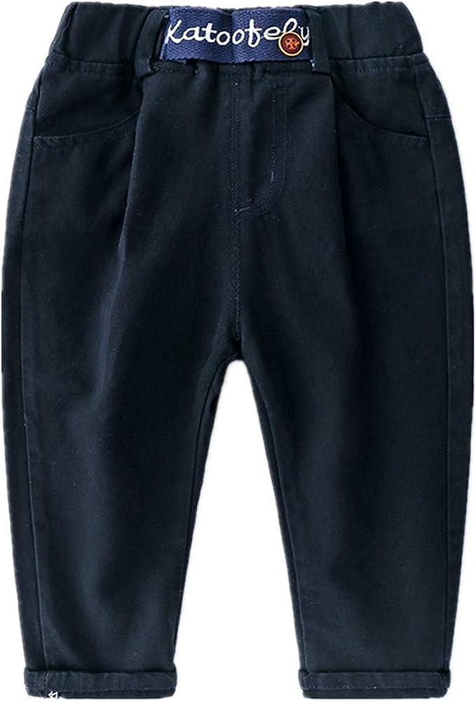 Bom Bom Pantalon Algodon Casual para Ninos con Cintura Elástica ...